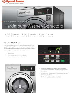 Speed Queen Hardmount Washer Extractor Quantum Gold