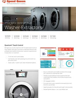 Speed Queen Hardmount Washer Extractor Quantum Touch