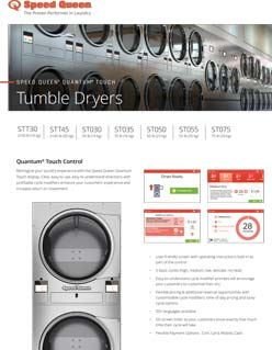 Speed Queen Stack Tumble Dryers Quantum Touch