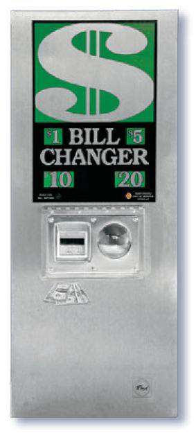 Rowe Bc 1400 Bill To Coin Changer Rear Load Wall Mounted