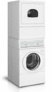 Speed Queen - Speed Queen LTGE5ASP115TW01 Stack Washer/Dryer 22/18 lb Capacity - Gas